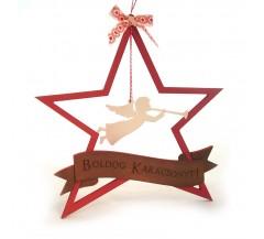 Csillag alakú karácsonyi ajtókopogtató