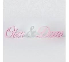 Szerelmes név dekoráció