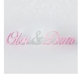 Esküvői név dekoráció