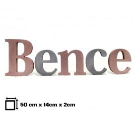 Gyerekszoba dekoráció: 50 cm-es név felirat, különálló betűkből