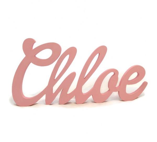 Gyerekszoba dekoráció: 45 cm hosszú név felirat, kapcsolódó betűkből