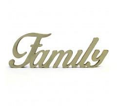Family felirat dekoráció