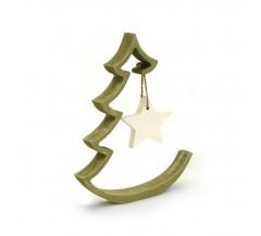 Stilizált kicsi karácsonyfa dísszel