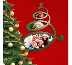 Hullámos Karácsonyfa - fényképkeret XL méret