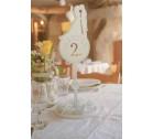 Esküvői asztalszámok - ifjú pár sziluettel